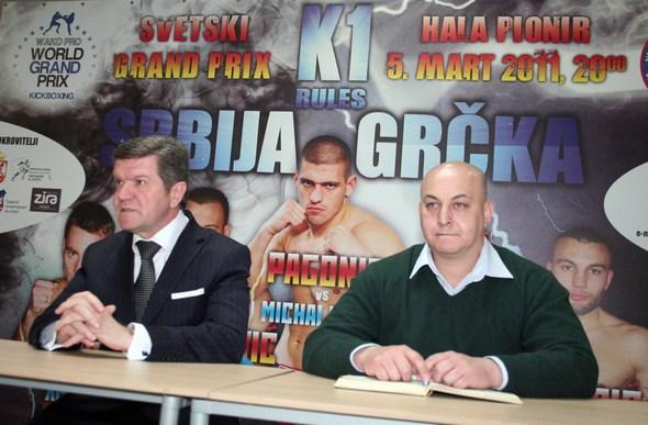 Borislav Pelević, predsednik Kik boks saveza Srbije i Srđan Bugarčić, generalni sekretar