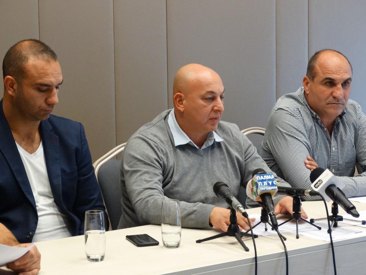 Dejan Milosavljevic potpredsednik Srdjan Bugarcic i Božidar Ðermanovic potpredsednik
