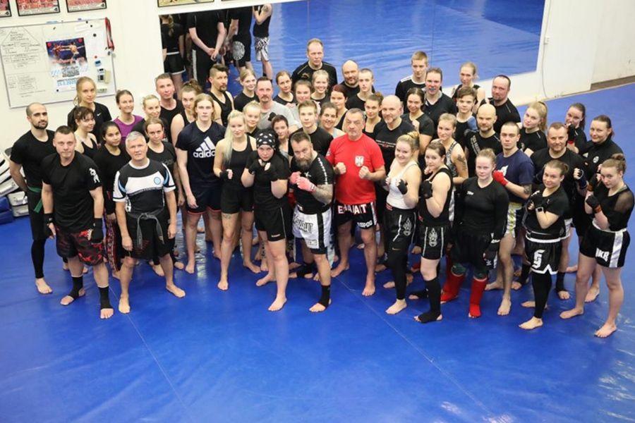 Miodrag Jotić na kik boks seminaru u Finskoj