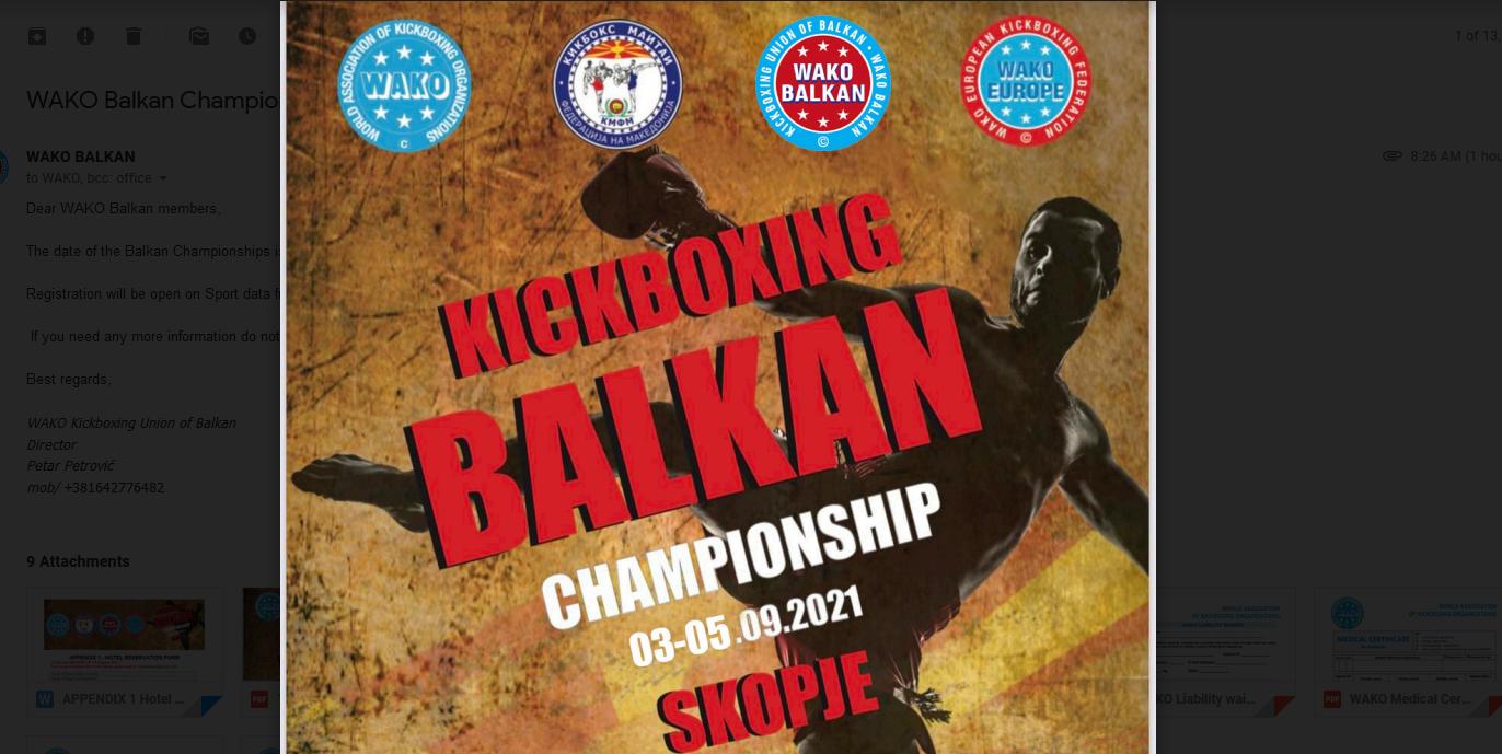 Balkan zove takmičare