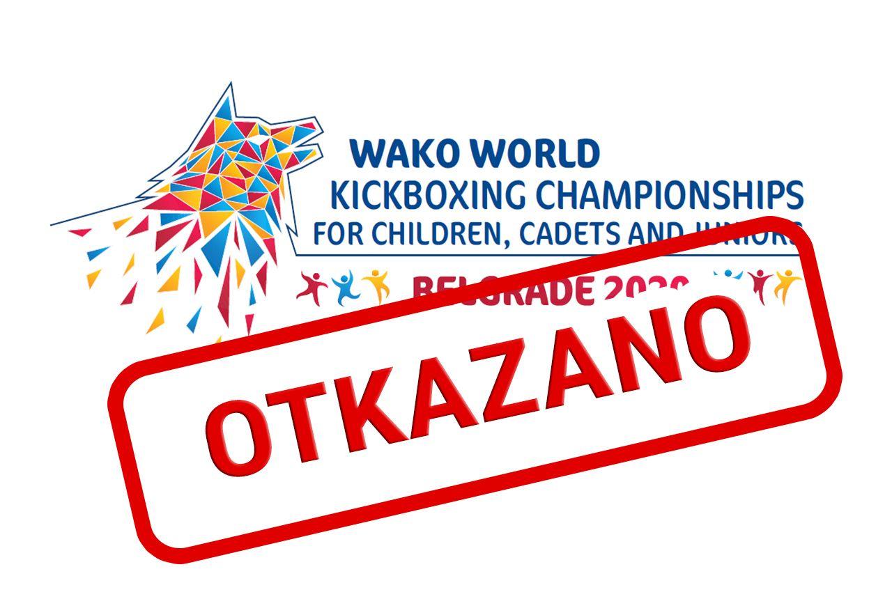 Svetsko prvenstvo za decu, kadete i juniore Beograd 2020 je otkazano u terminu 13-22.11.2020.